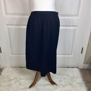 Pendleton Vintage Pure Virgin Wool Pencil Skirt